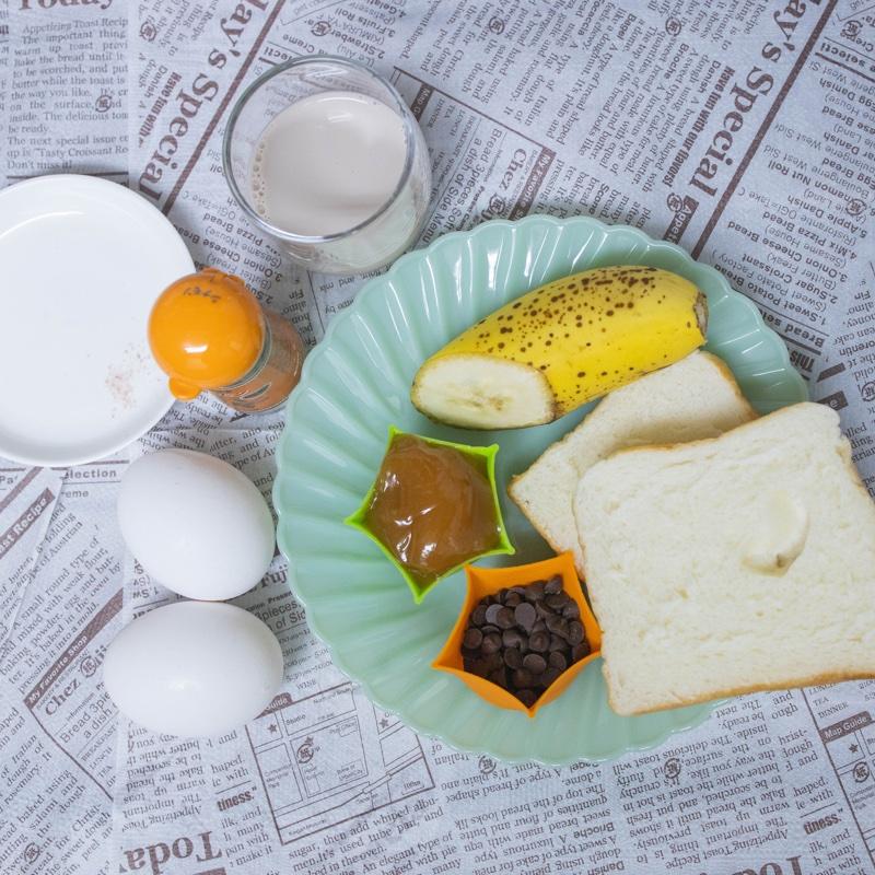 「チョコレート・ピーナッツバター・バナナフレンチトースト」の材料