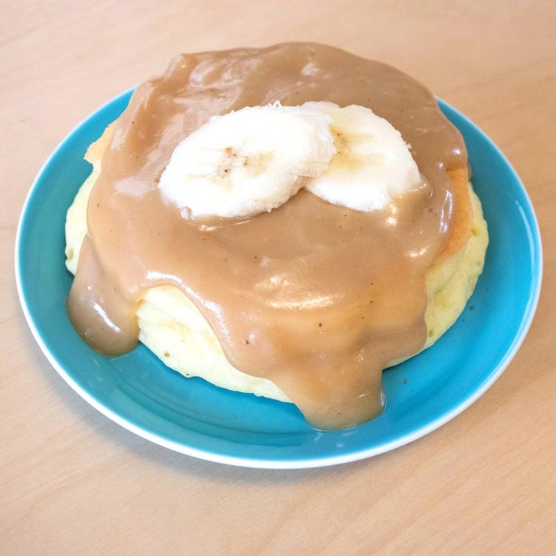 ホテルニューオータニ大阪のレシピを参考に自作した「バニラパンケーキ」