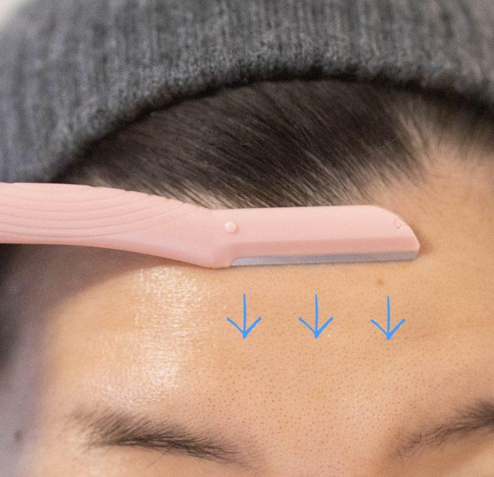 ひたいの剃り方の図解