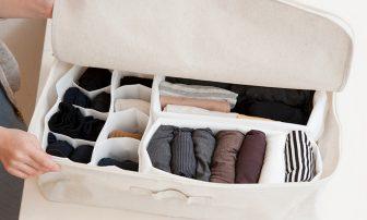 冬物の収納ルール5|衣装ケースにラベル、ハンガーで「見える化」等