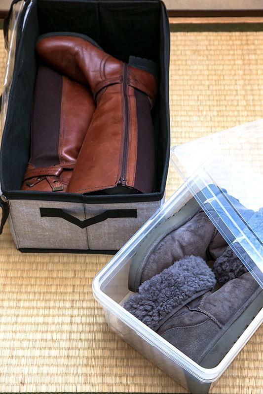 ブーツが箱に入っている