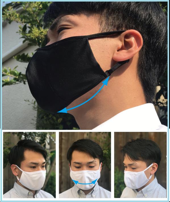 エムズの吸汗速乾・制菌素材を使った超立体の洗える布マスク「triple dart Mask(トリプルダーツマスク)」