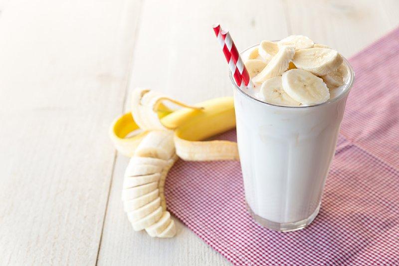 バナナがはいった牛乳