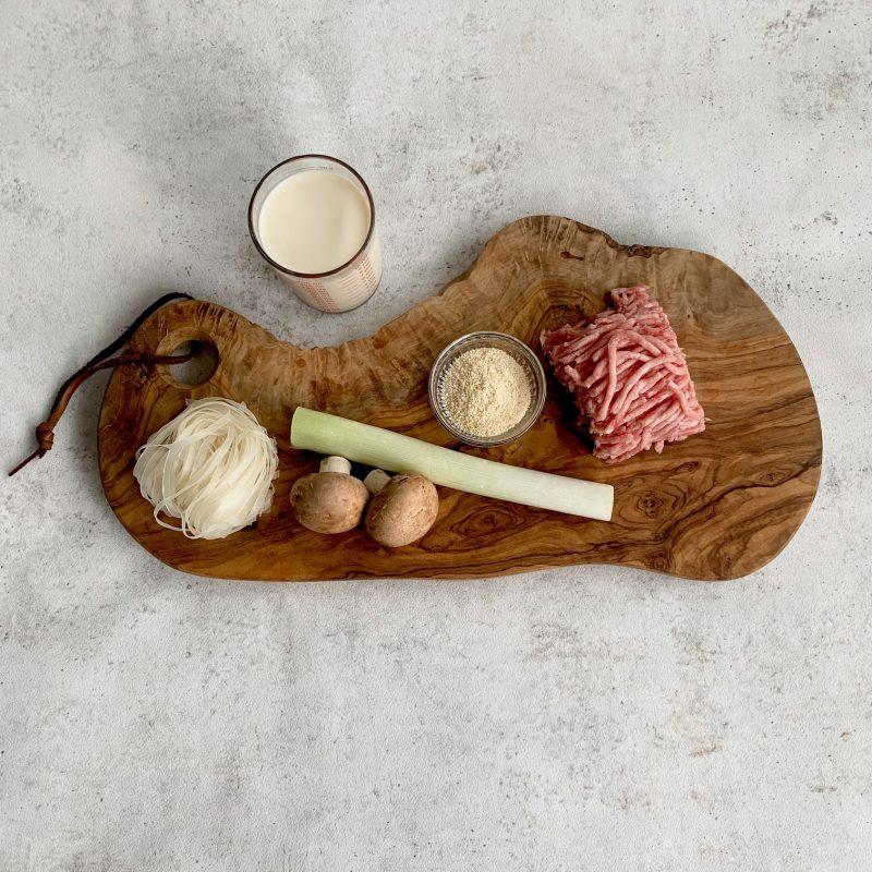 市橋有里がレシピ考案した「豆乳のフォー」材料