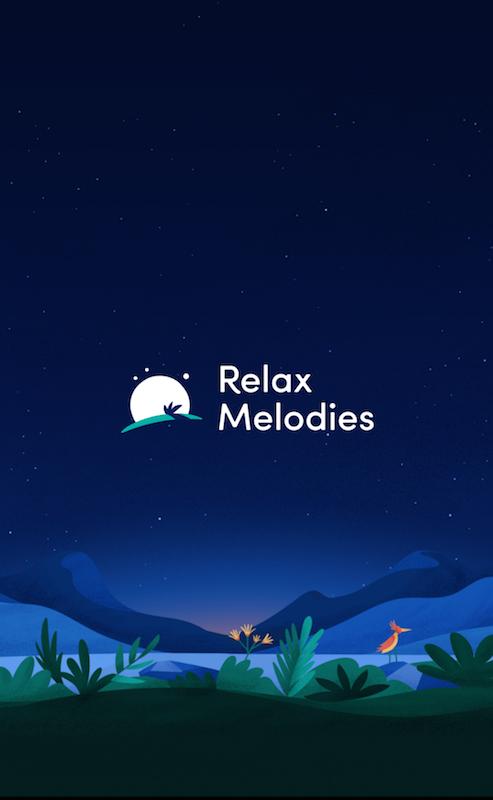 睡眠アプリ「Relax Melodies」のトップ画面