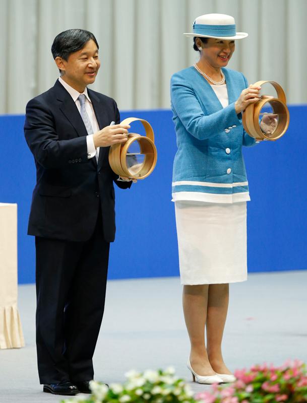 「第39回全国豊かな海づくり大会」式典にご出席された際の雅子さま