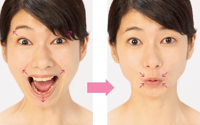 小顔体操のやり方