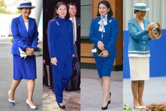 雅子皇后の透き通るブルーファッション7選|見事な着回しテ…