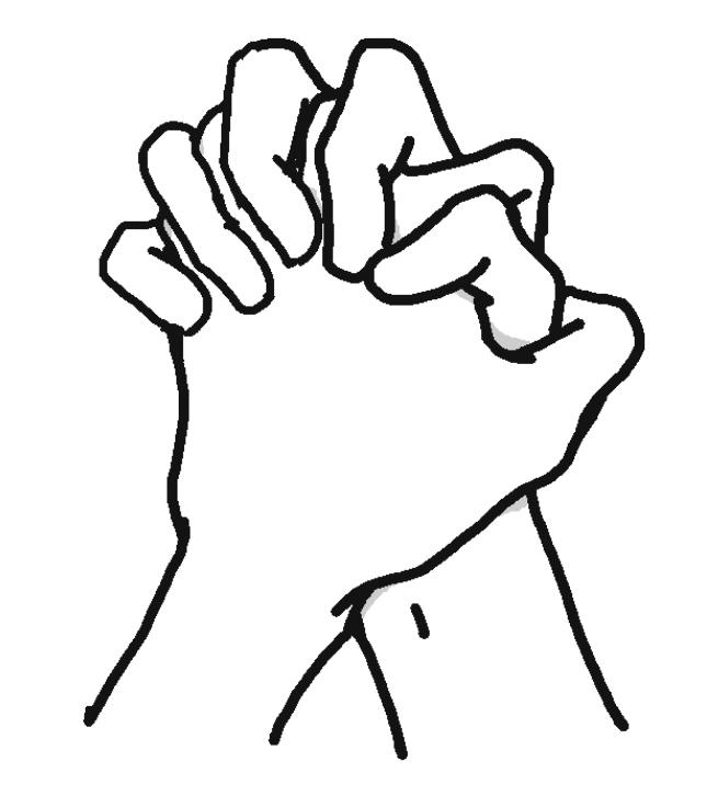 両手を組んだ手のイラスト