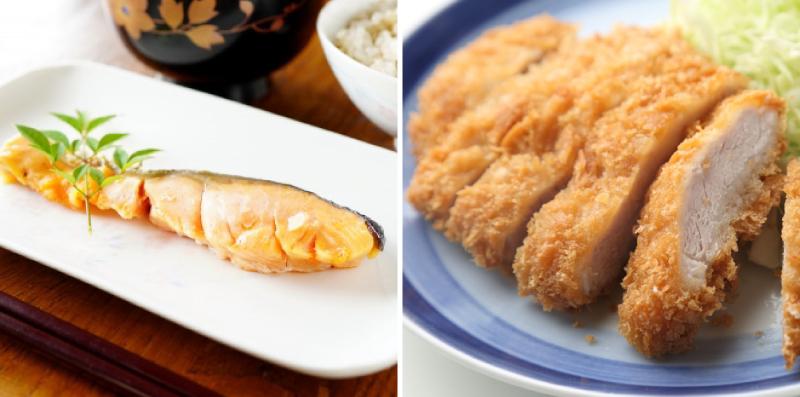 焼き魚とトンカツ