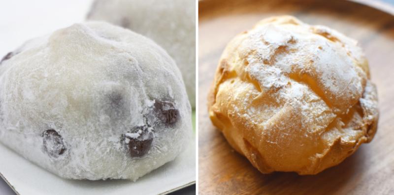 豆大福とシュークリーム