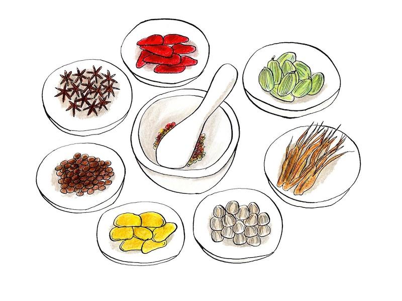 漢方薬のイラスト