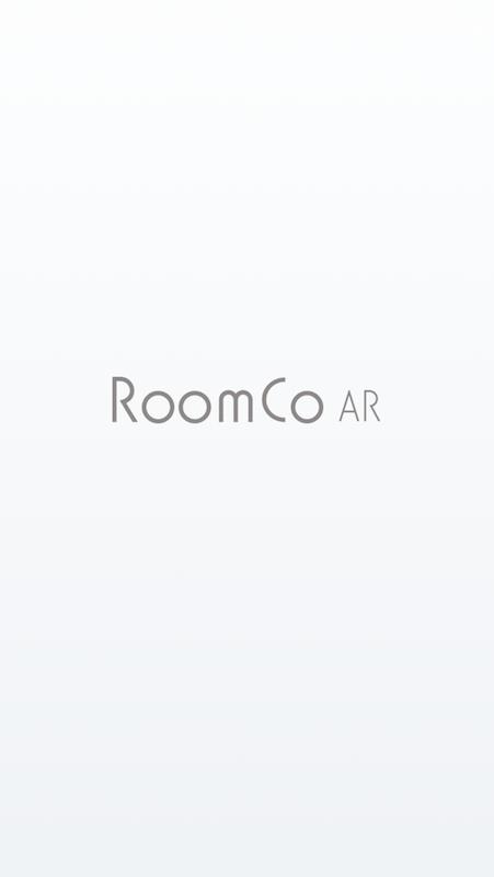 インテリアアプリ「RoomCoAR」のトップ画面