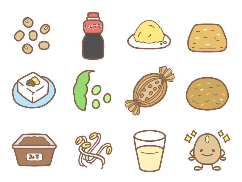 大豆食神のイラスト
