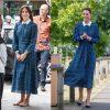 キャサリン妃とデンマークのメアリー妃が同じワンピースを着ているということを示す写真2枚