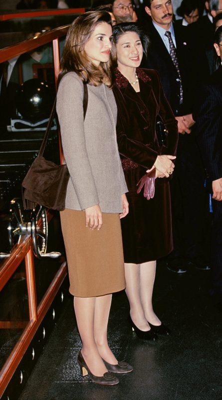 ラニア王妃が来日した際は、雅子さまの案内で科学技術館をご視察した際