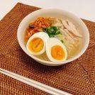 JUNさん考案のコンビニ食材だけで作る「冷麺風糖質ゼロ麺」