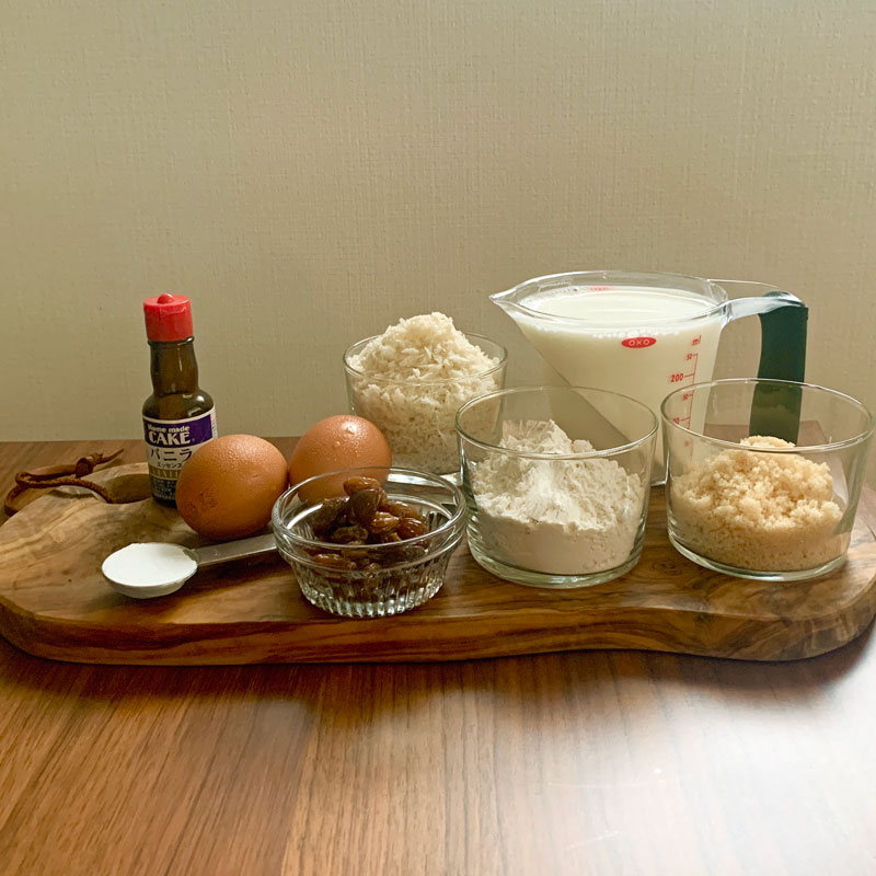 市橋有里のレシピ考案したフランス菓子「ファーブルトン」材料