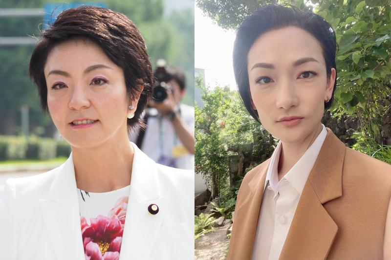 河井案里と冨永愛の顔写真