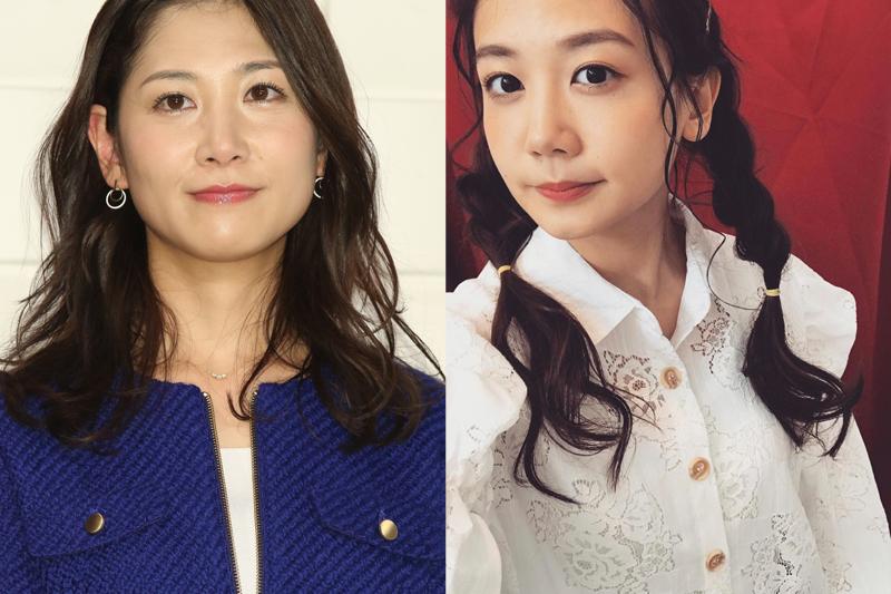 桑子真帆アナと千眼美子の顔写真
