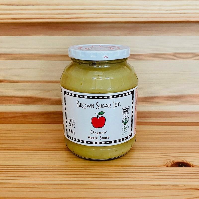 ブラウンシュガーファーストの有機アップルソース(瓶タイプ)