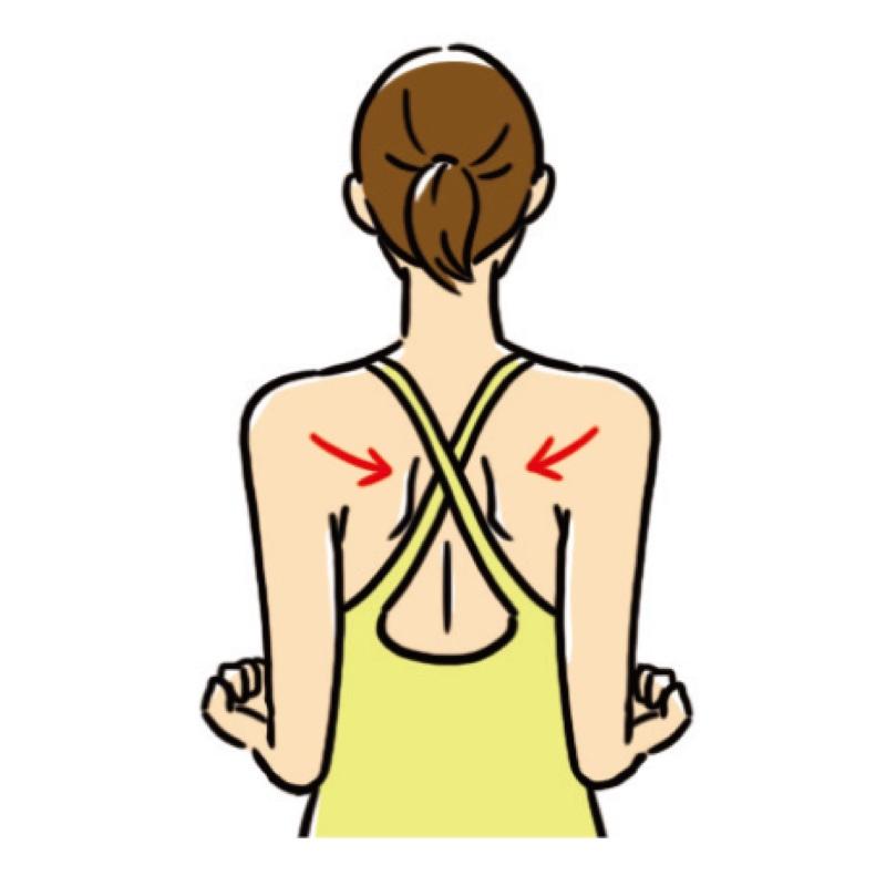 「背中のたるみ解消ストレッチ」のやり方のアドバイス