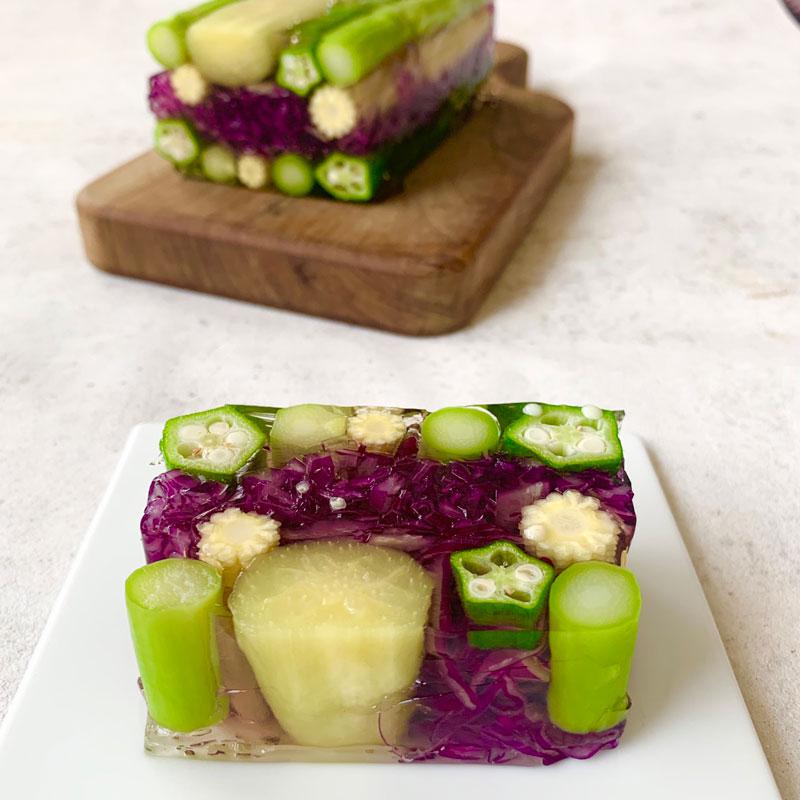 市橋有里がレシピ考案した「夏野菜のテリーヌ」