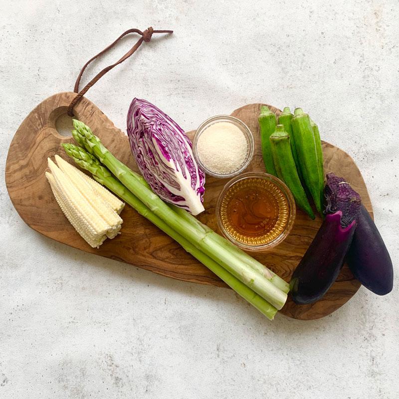 市橋有里がレシピ考案した「夏野菜のテリーヌ」材料