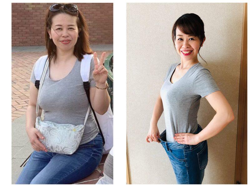 吉村園子さんのダイエット前とダイエット後の写真