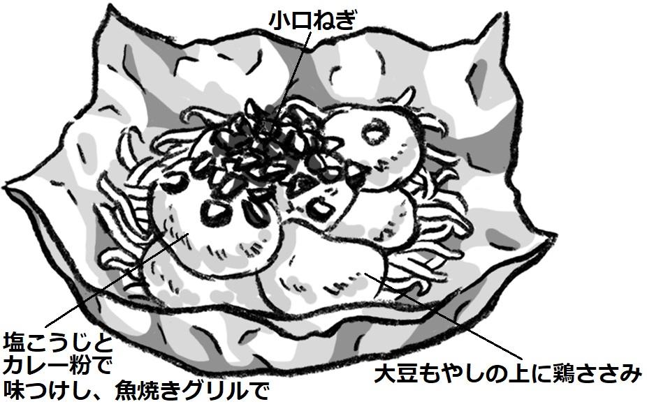 大豆もやしのホイル蒸し