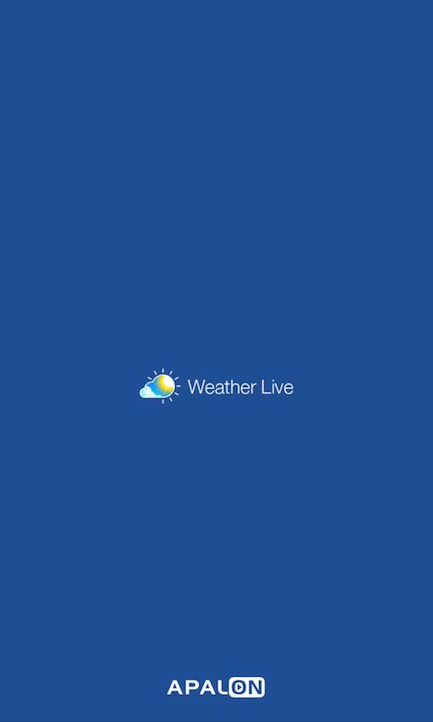天気アプリ「気象ライブ」のトップ画面