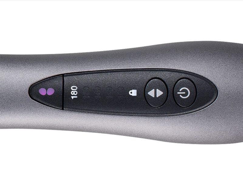 コイズミ(小泉成器)『イオンバランスアイロンブラシ KHR-6900/H』のスイッチ部分