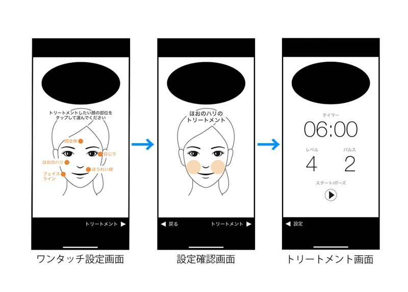 ガジェットジャパン 『NOFL Smart(ノーフルスマート)』のアプリ起動中の画面