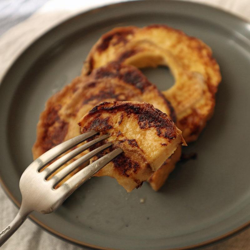 人気YouTuberのシャイニー薊(あざみ)さん率いるYouTube チャンネル「マッスルグリル」で紹介されたダイエットスイーツ「お麩のフレンチトースト」