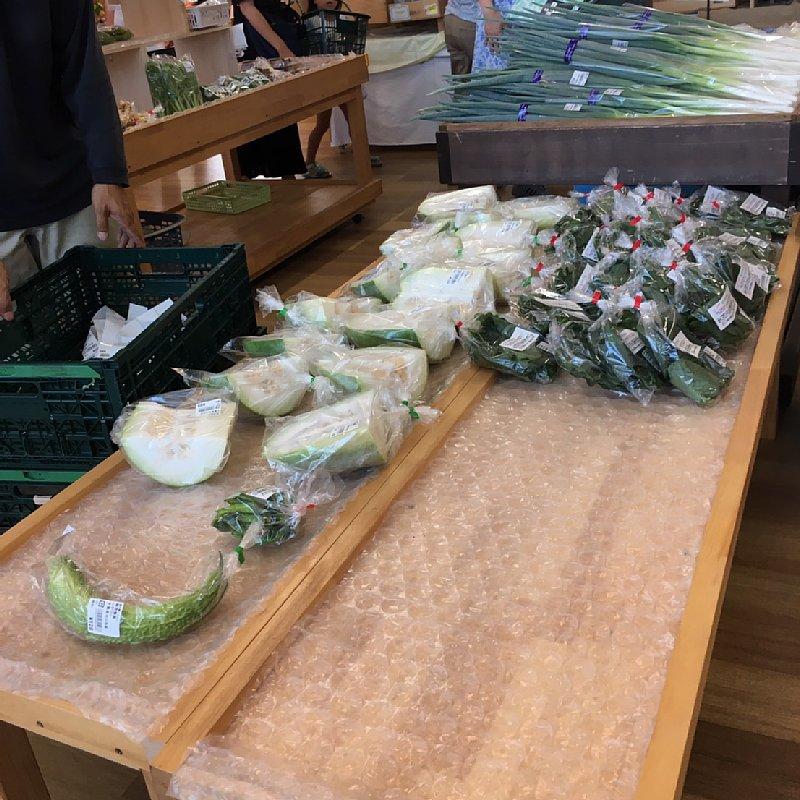 道の駅に並ぶ野菜