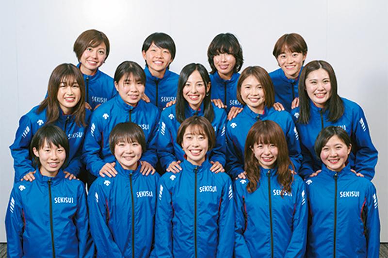 積水化学 女子陸上競技部集合写真