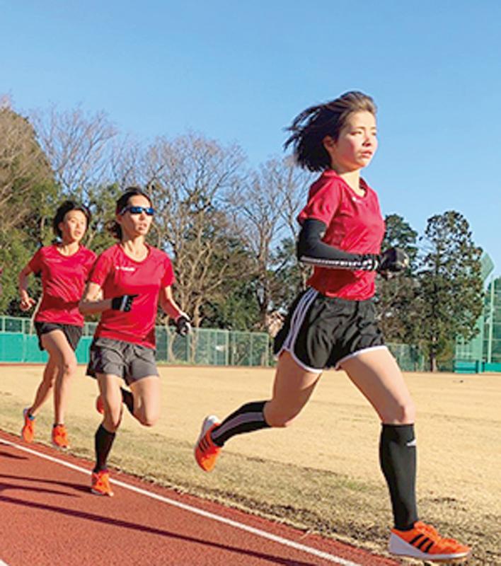 第一生命グループ女子陸上競技部の練習風景
