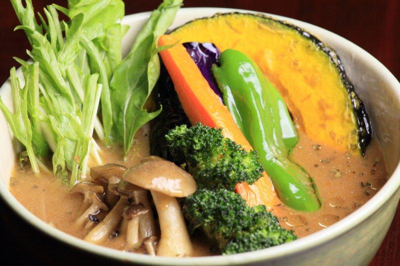 野菜がたっぷり入ったスープカレー