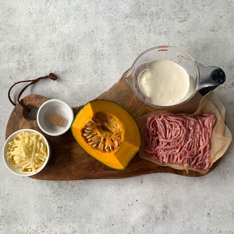 市橋有里がレシピ考案した「豆乳クリームグラタン」材料