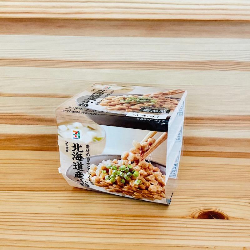 『7プレミアム 北海道産大豆小粒納豆3P』(セブン-イレブン)108円(税抜)