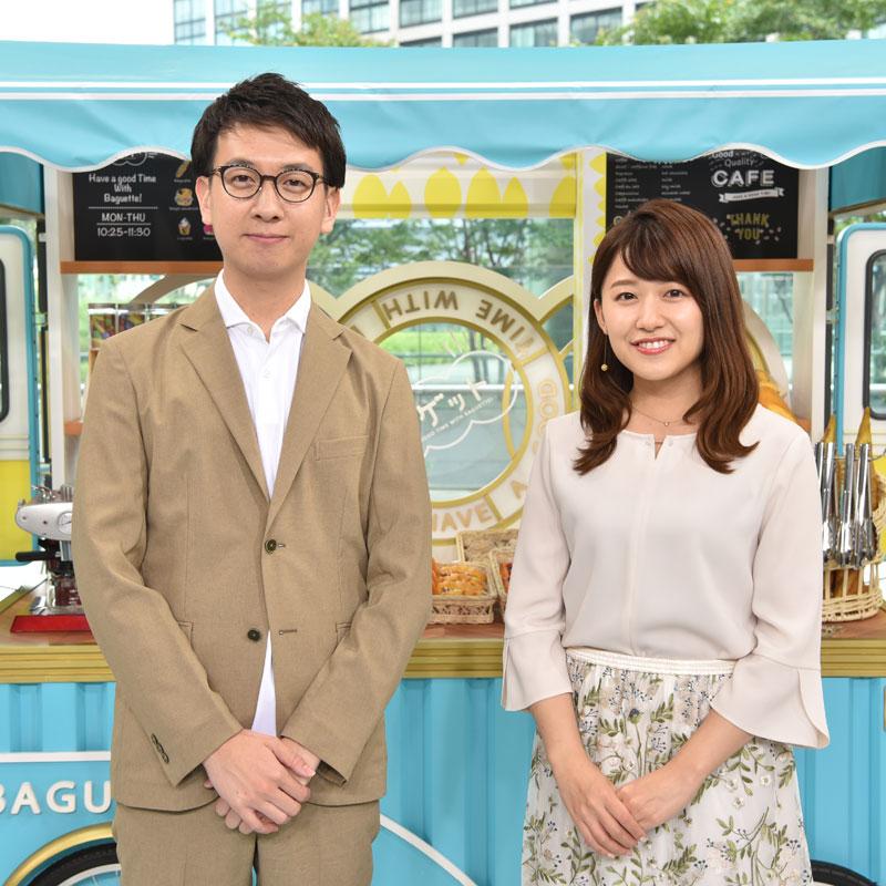 『バゲット』代表カット・左から平松修造アナと尾崎里紗アナ