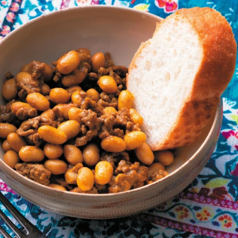 「大豆とひき肉のカレー」