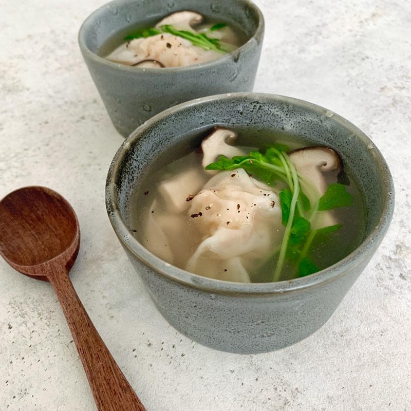 市橋有里がレシピ考案した免疫力&美肌力をWで高める「れんこんとエビのワンタンスープ」