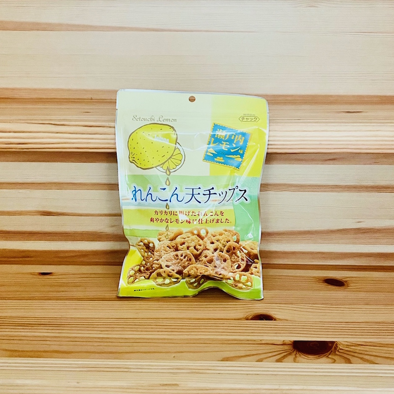 ダイコー食品のれんこん天チップス瀬戸内レモン味