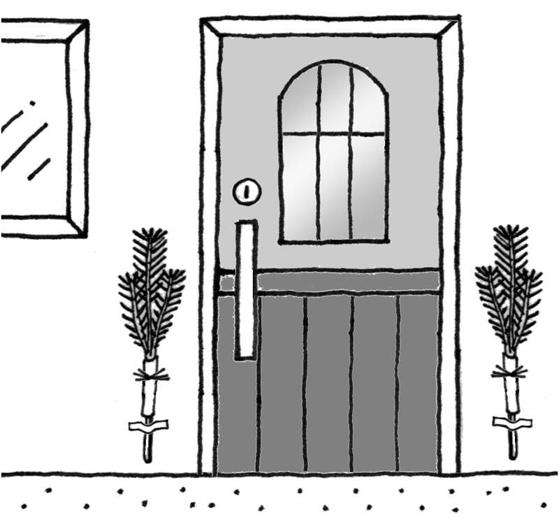 玄関のイラスト