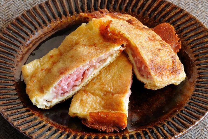 油揚げと紅しょうがのチーズ焼き
