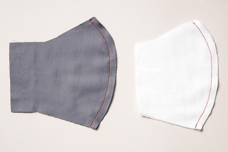 カーブ部分を縫った布
