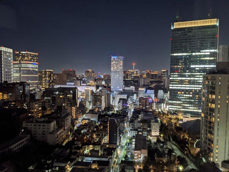 フレイザースイート赤坂東京から見える夜景