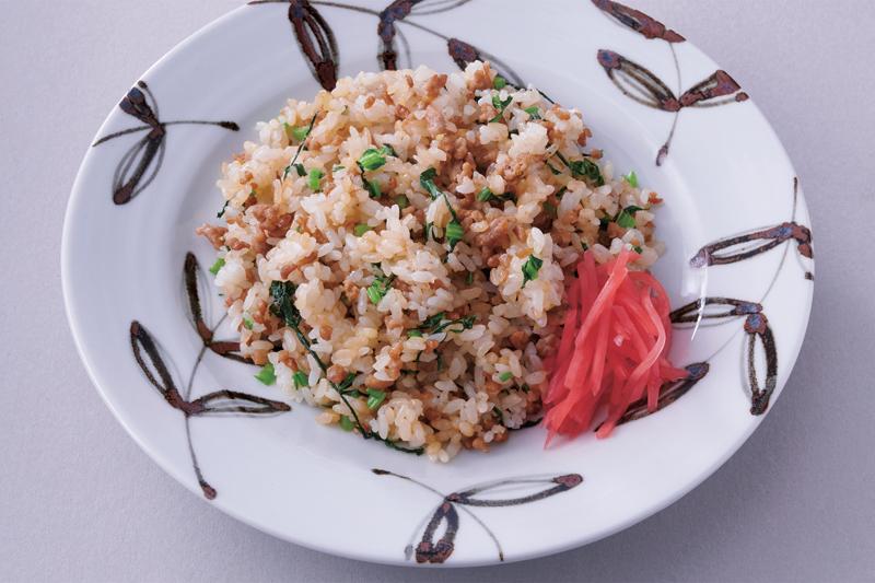 そぼろと小松菜のチャーハン