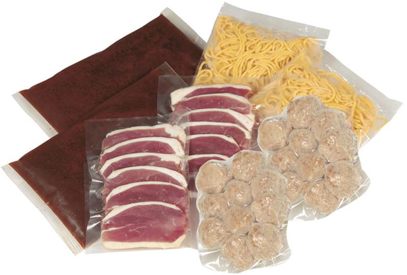 本鴨ロース肉100g×2、鴨つみれボール100g×2、無添加麻辣スープ600ml×2、唐辛子ラーメン130g×2がセット